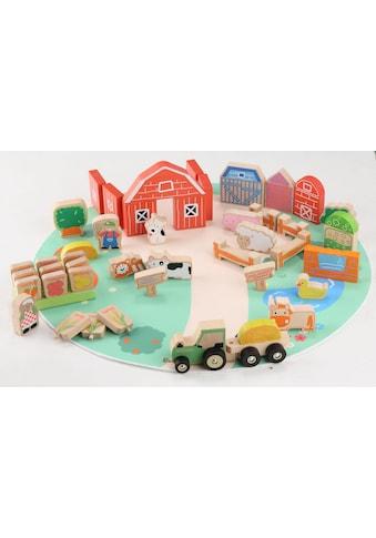 """EverEarth® Spielbausteine """"Bauernhof Set"""", Holz, (42 - tlg.) kaufen"""