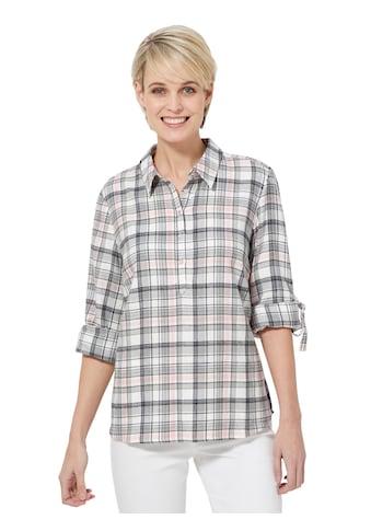 Casual Looks Bluse im garngefärbten Karodessin kaufen