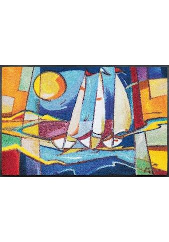 wash+dry by Kleen-Tex Fußmatte »sailing home«, rechteckig, 7 mm Höhe,... kaufen
