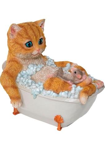 Casa Collection by Jänig Dekofigur »Katze mit Maus in Badewanne« kaufen