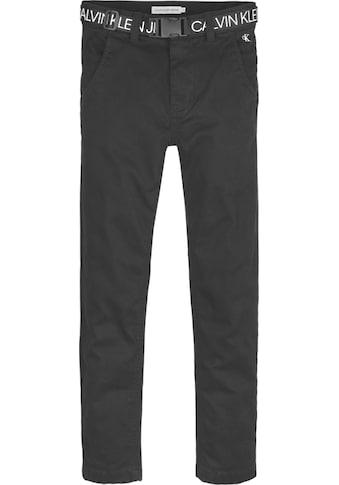 Calvin Klein Jeans Chinohose »LOGO BELT TAPERED CHINO« kaufen