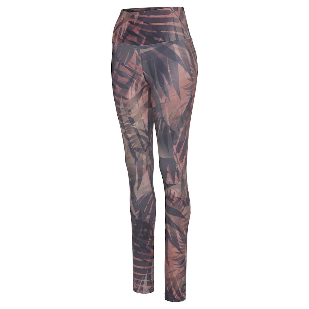 LASCANA ACTIVE Leggings »Tropical«, mit abstraktem Palmenprint