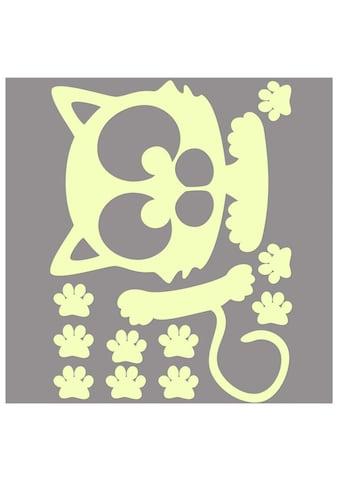 Wall-Art Wandtattoo »Lichtschalter Katze Leuchtsticker« kaufen