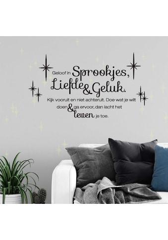 Wall-Art Wandtattoo »Liefde en Geluk Leuchtbilder« kaufen