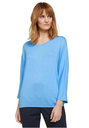 TOM TAILOR 3/4-Arm-Shirt, in schöner, melierter Optik kaufen