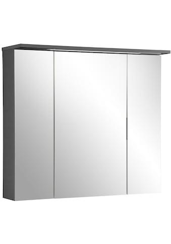 Schildmeyer Spiegelschrank »Profil 16«, Breite 80 cm, 3-türig, eingelassene LED-Beleuchtung, Schalter-/Steckdosenbox, Glaseinlegeböden, Made in Germany kaufen