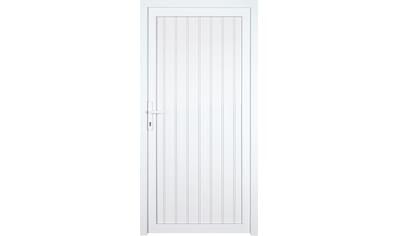 KM Zaun Nebeneingangstür »K608P«, BxH: 98x208 cm cm, weiß, rechts kaufen