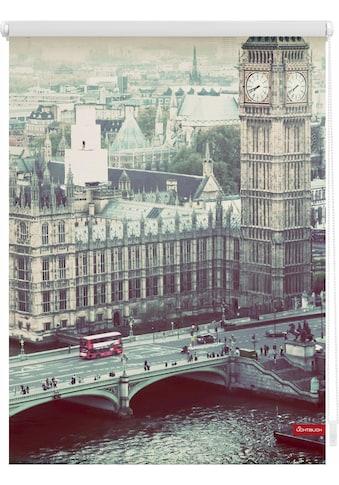 LICHTBLICK Seitenzugrollo »Klemmfix Motiv London Westminster«, Lichtschutz, ohne... kaufen