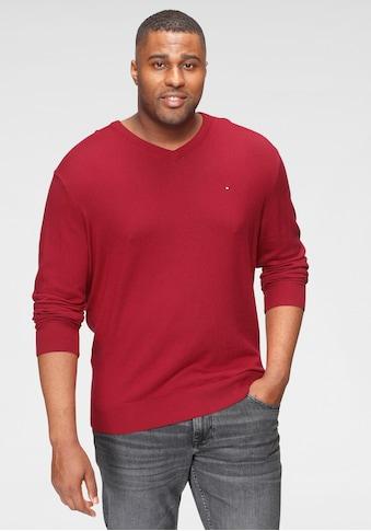 Tommy Hilfiger Big & Tall V-Ausschnitt-Pullover »BT-PIMA COTTON CASHMERE V NECK-B« kaufen
