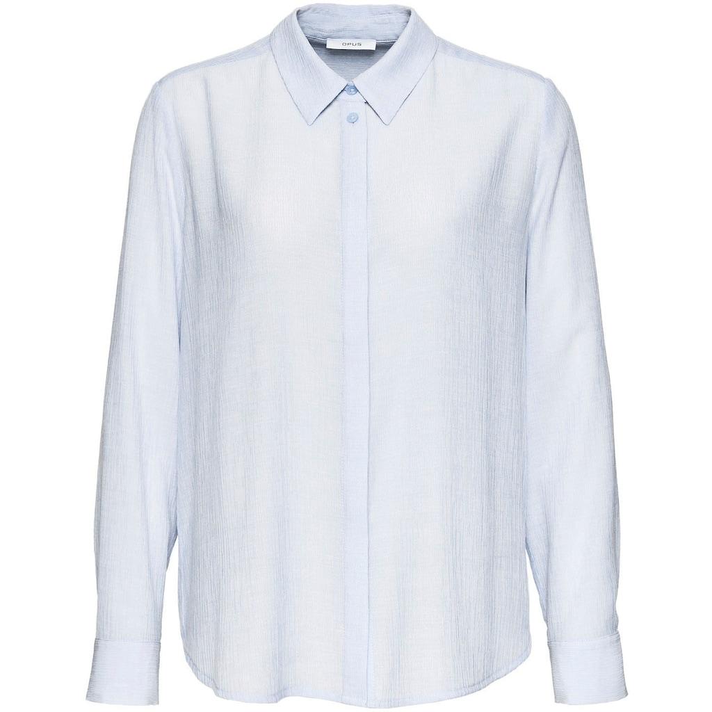 OPUS Klassische Bluse »Forela«, mit feiner 3D-Struktur