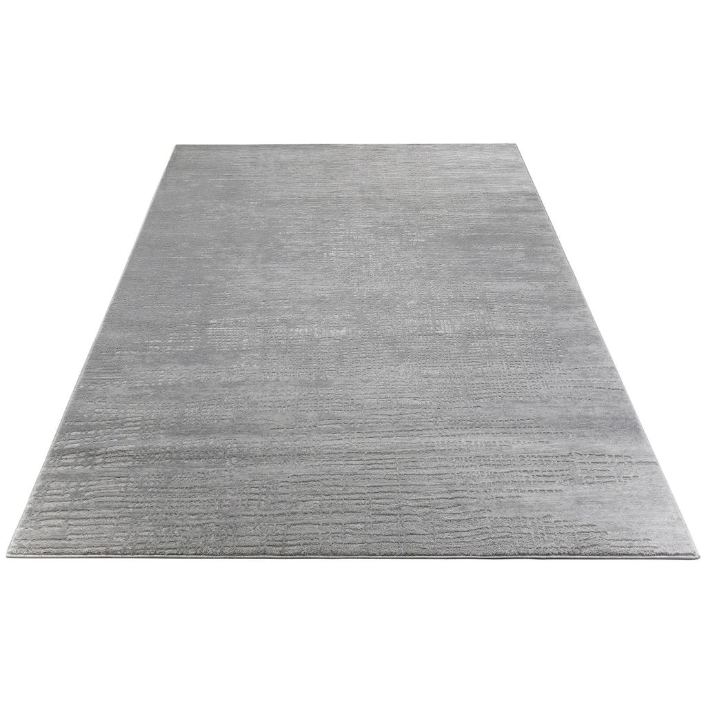 Home affaire Teppich »Ariano«, rechteckig, 12 mm Höhe, Hoch-Tief-Struktur, Wohnzimmer