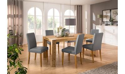 Home affaire Essgruppe »Silje«, (Set, 7 St.), bestehend aus 6 Lucca Stühlen und dem... kaufen