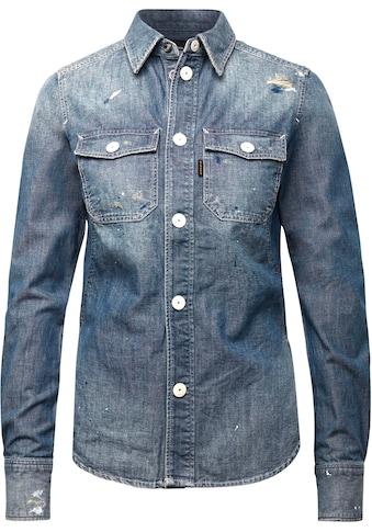 G-Star RAW Jeansbluse »Kick Back Worker Hemd«, aufgesetzte Brusttaschen mit Patte- und Knopfverschluss kaufen