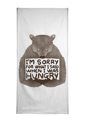 """Handtuch """"I'm Sorry For What I Said When I Was Hungry"""", Juniqe kaufen"""