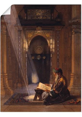 Artland Wandbild »In der Moschee.«, Religion, (1 St.), in vielen Größen & Produktarten -Leinwandbild, Poster, Wandaufkleber / Wandtattoo auch für Badezimmer geeignet kaufen