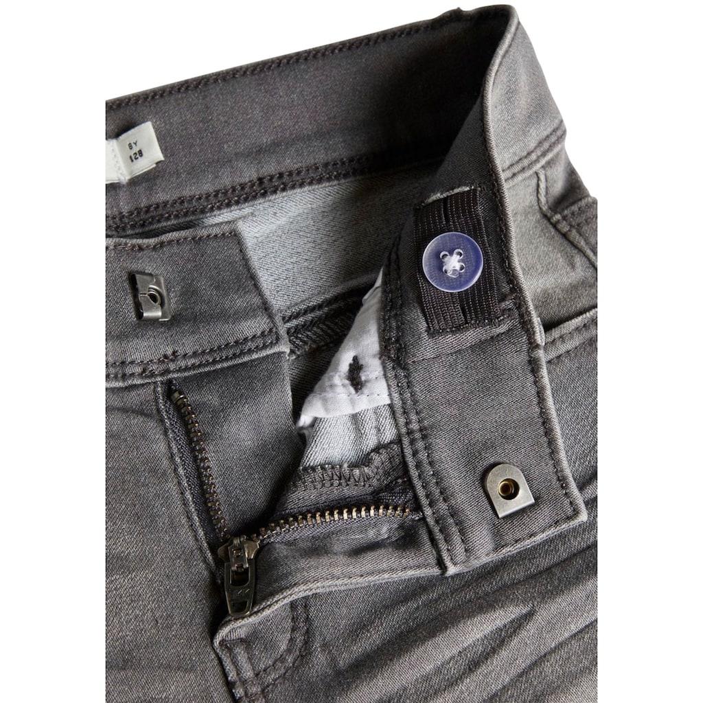 Name It Stretch-Jeans »NKFPOLLY«, Skinnyform mit coolem Chrinkeleffekt
