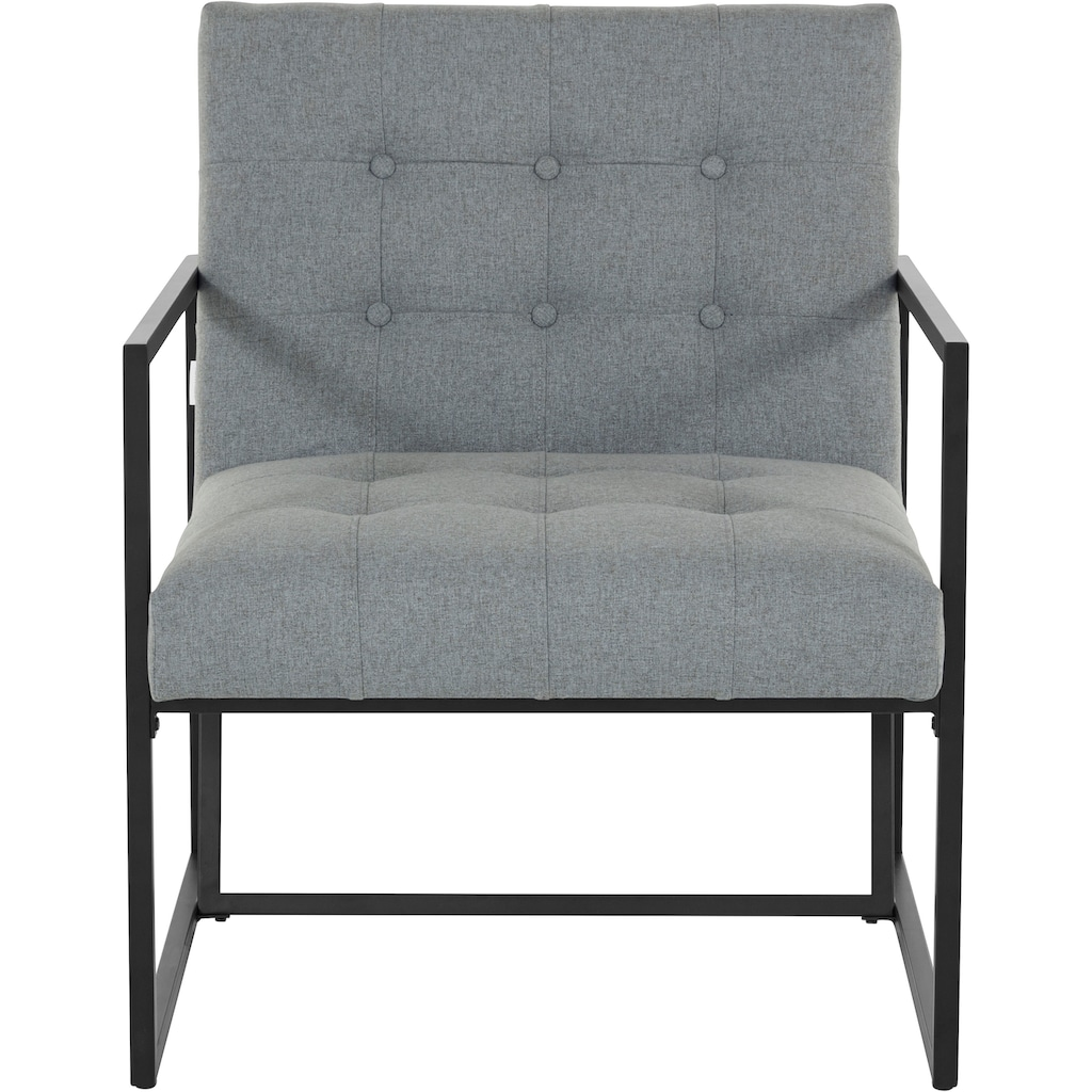 Guido Maria Kretschmer Home&Living Sessel »Silwai«, mit schönem vergoldetem Metallgestell und Samtpolsterung, Sitzhöhe 44 cm