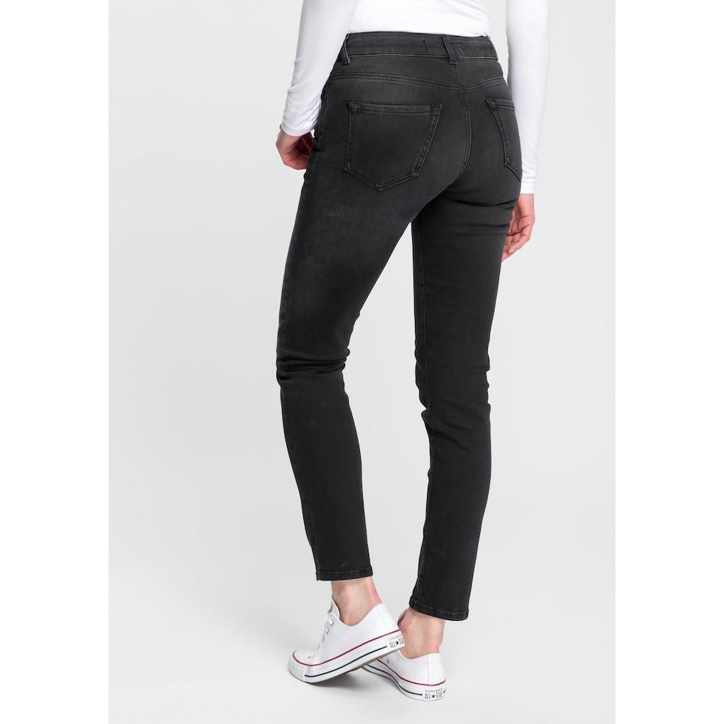 Replay 7/8-Jeans »Faaby«, im Used-Look mit zartem Glitzer-Effekt