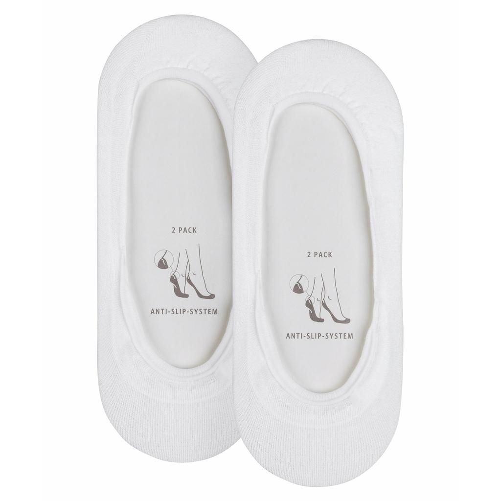 Esprit Füßlinge »Basic 2-Pack«, (2 Paar), für ein sicheres Laufgefühl