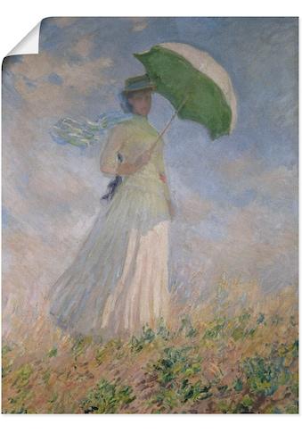Artland Wandbild »Frau mit Sonnenschirm, Susanne Hoschedé«, Frau, (1 St.), in vielen... kaufen