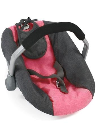 """CHIC2000 Puppen Autositz """"Anthrazit - Pink"""" kaufen"""