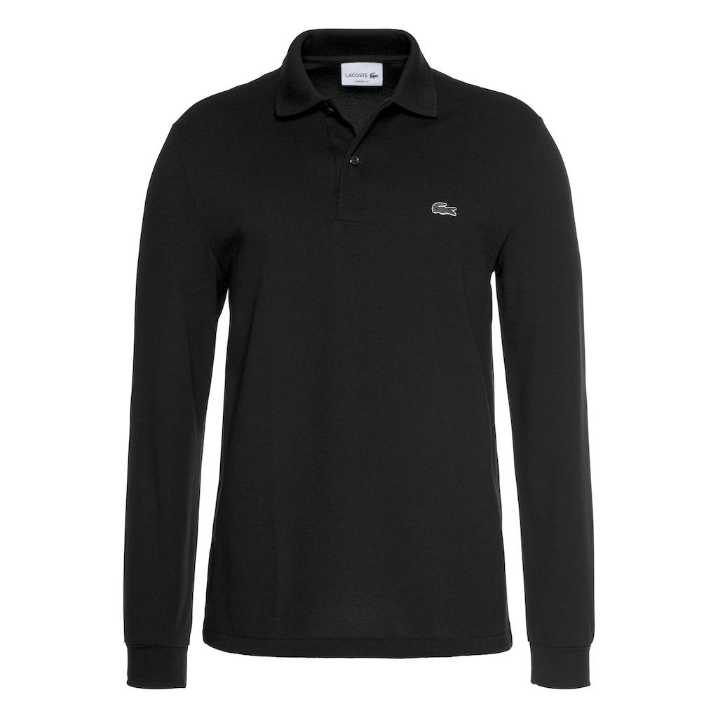 Lacoste Langarm-Poloshirt, Basic Style