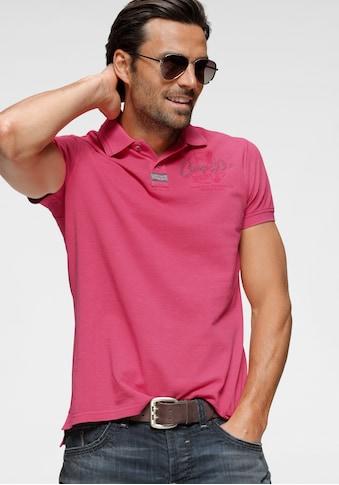 CAMP DAVID Poloshirt, mit großem Rückenprint kaufen