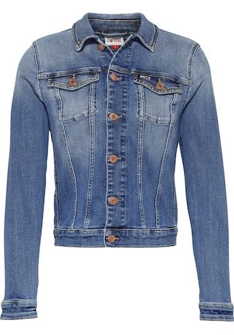 TOMMY JEANS Jeansjacke »VIVIANNE SLIM DENIM TRCKR HLDBST«, mit Tommy Jeans Branding Knöpfen & Flag kaufen