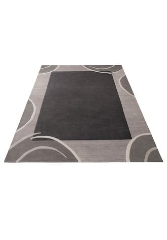 Theko Exklusiv Wollteppich »Bellary«, rechteckig, 13 mm Höhe, reine Wolle, mit Bordüre, Wohnzimmer kaufen