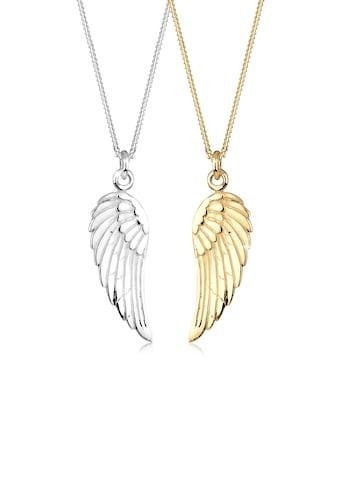 Elli Ketten-Set »Partnerkette Friends Flügel Bi-Color 925er Silber« kaufen