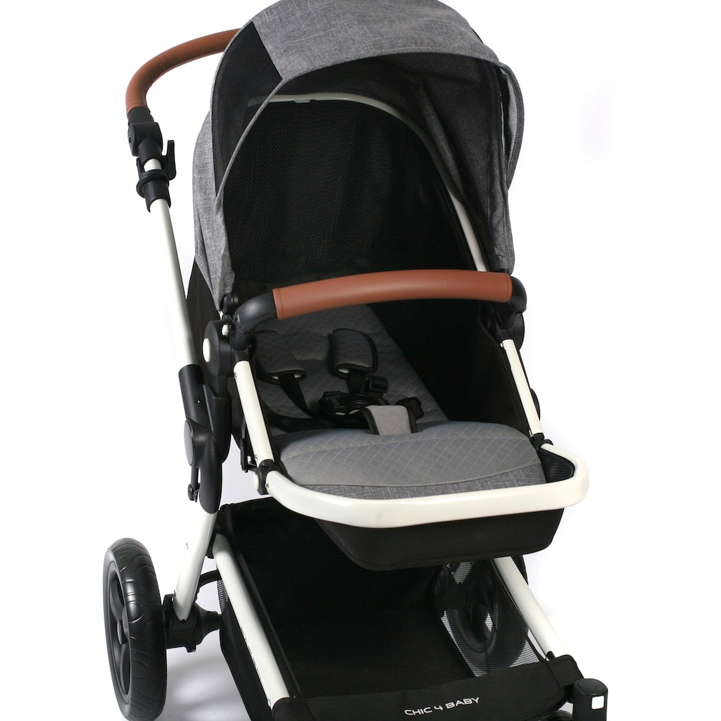 CHIC4BABY Kombi-Kinderwagen »Passo, Melange Grau«, 15 kg