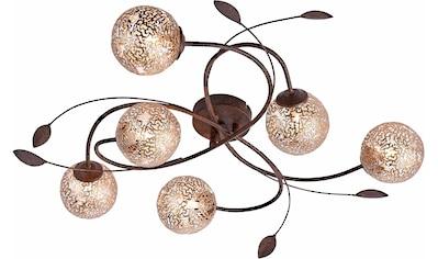 Paul Neuhaus Deckenleuchte »GRETA«, G9, mit goldfarbenen Metallschirmen, ohne... kaufen