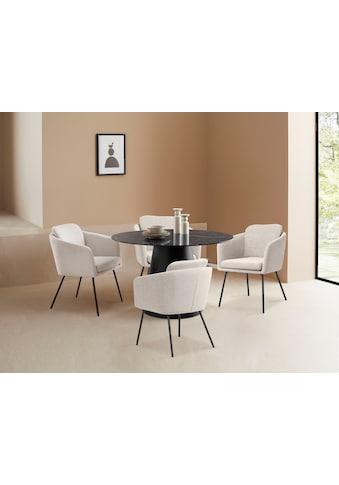 LeGer Home by Lena Gercke Esstisch »Malin«, 1cm starke Tischplatte in Marmoroptik kaufen