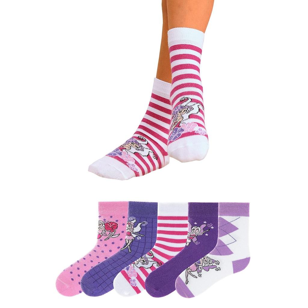Go in Socken, (5 Paar), in 5 farbenfrohen Designs