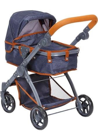 Knorrtoys® Kombi-Puppenwagen »Kio, dark blue« kaufen