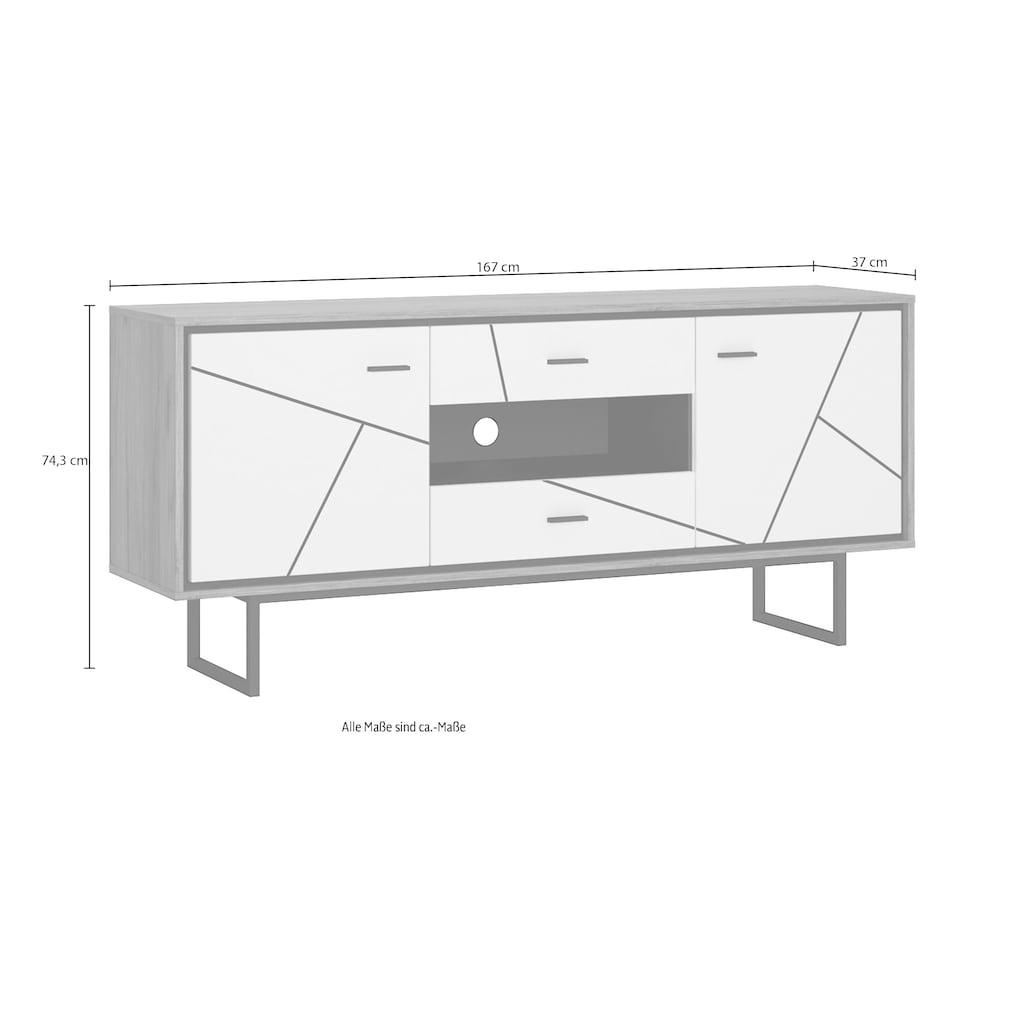 INOSIGN Lowboard »Brolo«, Breite 167 cm