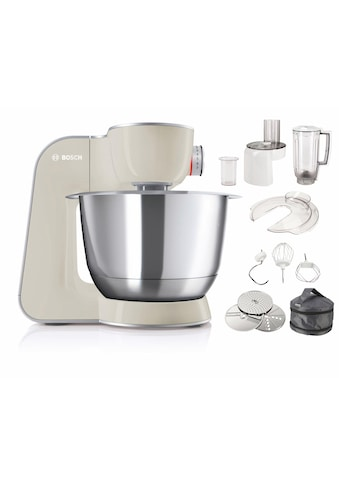 BOSCH Küchenmaschine »MUM5 CreationLine MUM58L20«, vielseitig einsetzbar, Durchlaufschnitzler, 3 Scheiben, Mixer, grau/silber kaufen