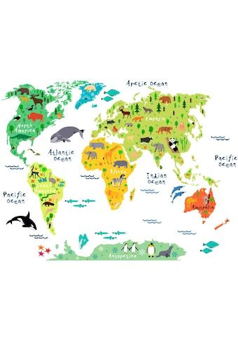 Wandtattoo »tierische Weltkarte« kaufen