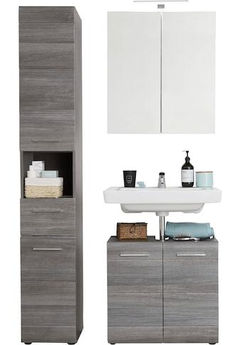 trendteam Badmöbel-Set »Skin«, (Set, 3 St.), Spiegelschrank mit LED-Beleuchtung,... kaufen