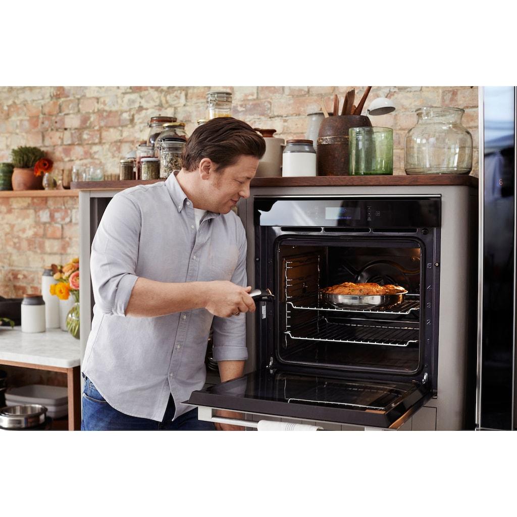 Tefal Pfannen-Set »Ingenio by Jamie Oliver, L95694«, Edelstahl, (Set, 3 tlg.), 24/28 cm + 1 Griff, Antihaft-Versiegelung, Backofenfest, Induktionsgeeignet