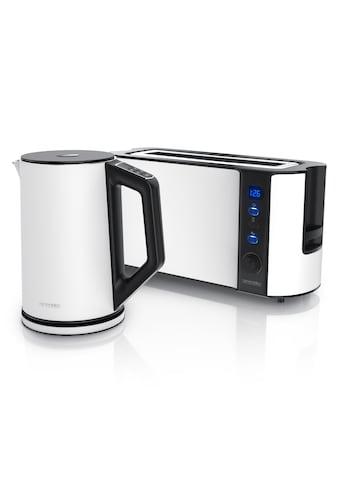 Arendo Frühstücks-Set »Wasserkocher / Toaster«, 2-teilig in weiß kaufen