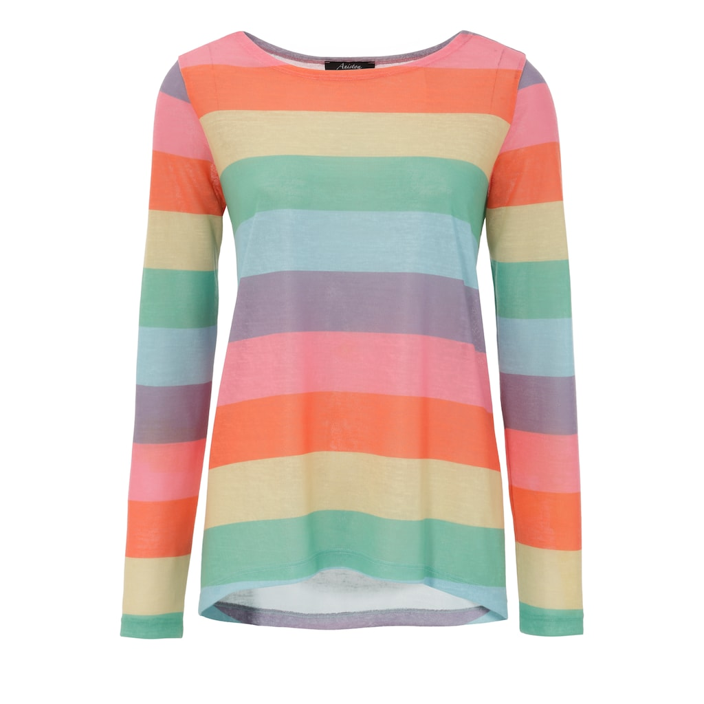 Aniston CASUAL Langarmshirt, mit farbstarken Streifen - NEUE KOLLEKTION