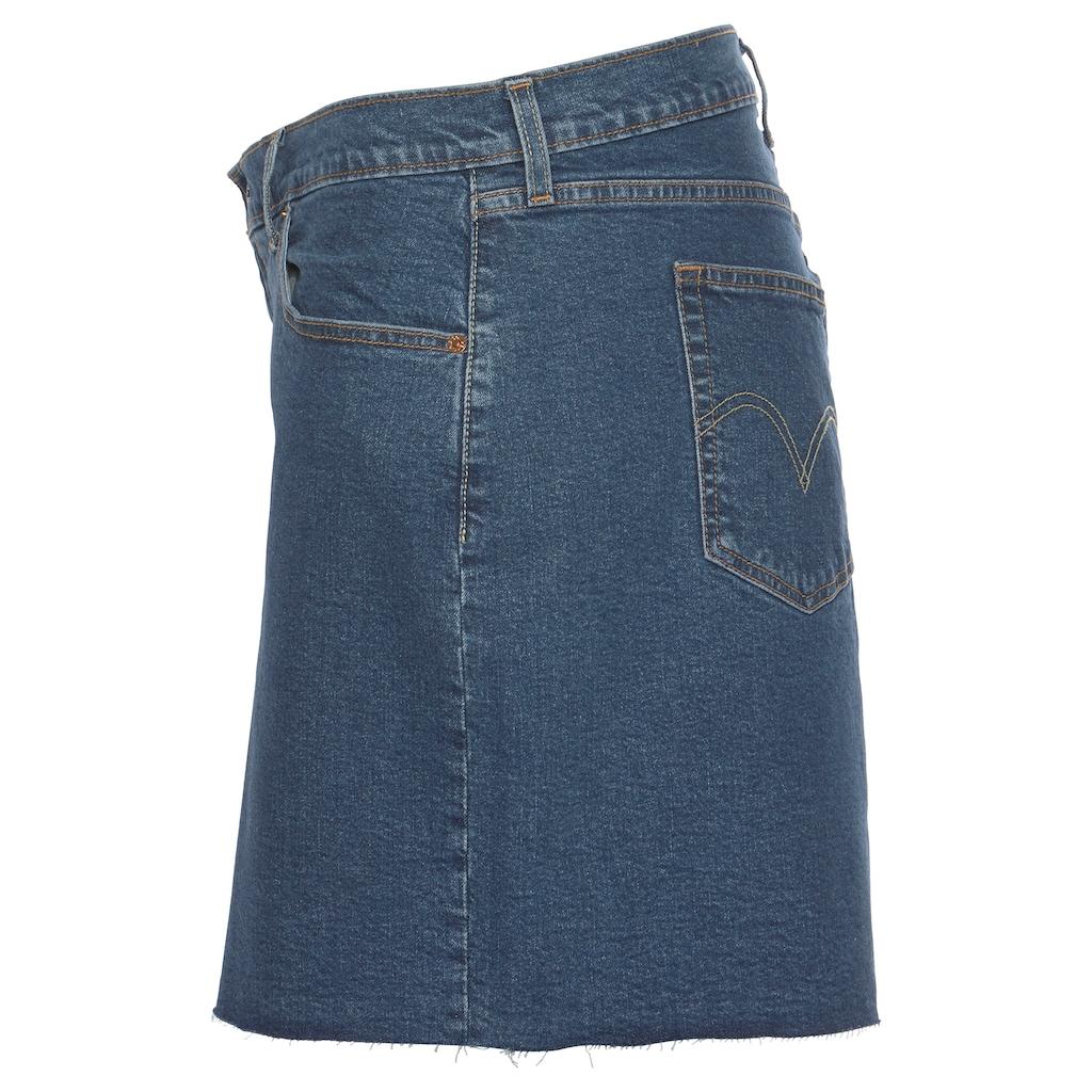 Levi's® Plus Jeansrock »Plus Size Deconstructed Skirt«, mit ausgefranster Rock-Kante