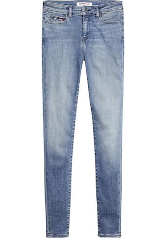 TOMMY JEANS Skinny-fit-Jeans »NORA MR SKNY DYMMBS«, mit Fadeout-Effekten kaufen