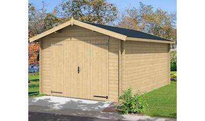 Nordic Holz Garage »Mauritius«, BxT: 382x560 cm, 202 cm Einfahrthöhe kaufen