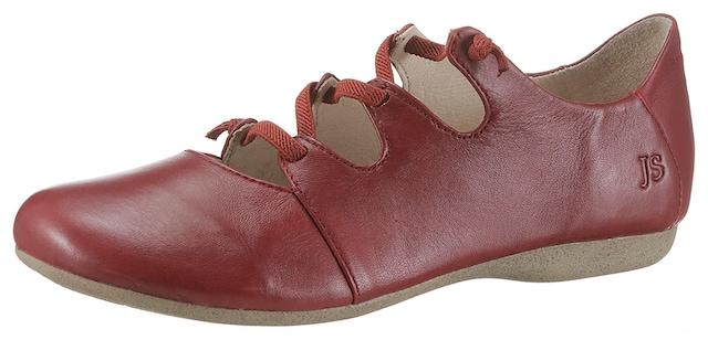 Riemchenballerinas in Rot