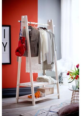Home affaire Garderobenständer »Ward«, aus massivem weiß lackiertem Fichtenholz, Breite 125 cm kaufen