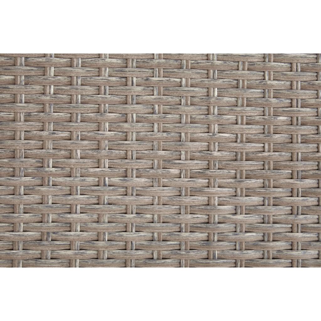 KONIFERA Loungeset »Lorca de luxe«, (16 tlg.), 2x Ecksofa, 2 Hocker, Tisch 100x55 cm, Polyrattan