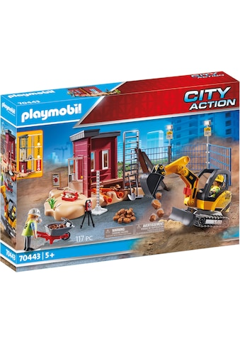 Playmobil® Konstruktions-Spielset »Minibagger mit Bauteil (70443), City Action«, ; Made in Germany kaufen