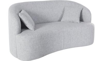 LeGer Home by Lena Gercke 2-Sitzer »Dilara«, gerundete Rückenlehne und Front, in 3 Bezugsqualitäten, auch in Bezugsqualität Bouclé kaufen